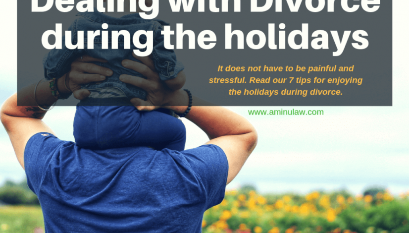 Dealing with divorce during holidays; father's rights Houston family lawyer